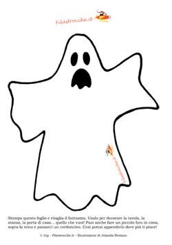 Decorazioni per Halloween  Il fantasma - Halloween su Filastrocche.it 53cf81b3562f