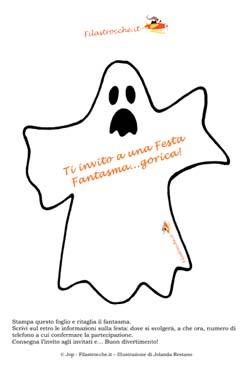Inviti sagomati per la festa di halloween pipistrello o - Contorno immagine di pipistrello ...