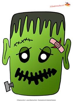 Halloween Maschere.Maschere Per Halloween Frankenstein Halloween Su Filastrocche It