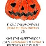 Inviti a entrare per la Festa di Halloween