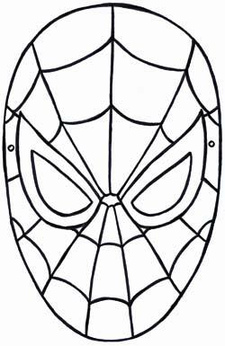 Maschera da uomo ragno stampabile gratuita for Spiderman da colorare on line