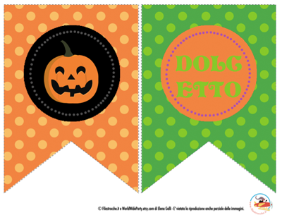 Halloween decorazioni fai da te il festone - Decorazioni per feste fai da te ...