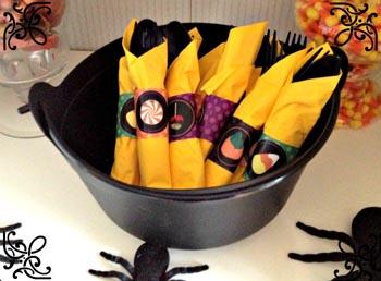 Decorazioni Tavola Halloween Fai Da Te : Halloween portatovaglioli fai da te filastrocche