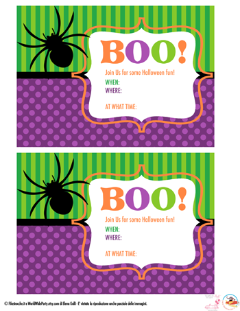 Halloween: inviti per la festa fai da te