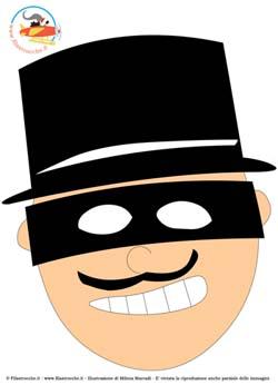 Maschere Di Carnevale Da Stampare Zorro Pompiere E Pirata