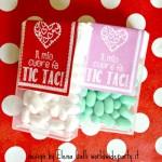 Idea regalo per San Valentino: etichette per Tic Tac