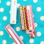 Idea regalo per San Valentino: etichette per barrette di cioccolato