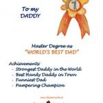 Idea regalo per la Festa del Papà: Diploma World's Best Daddy