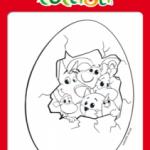 Disegni da colorare per Pasqua con i Cuccioli