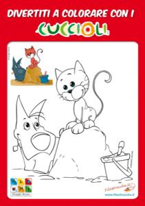 Disegni Da Colorare Per Le Vacanze Con I Cuccioli Filastroccheit