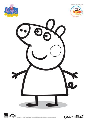 Disegni Da Colorare Di Peppa Pig Filastroccheit