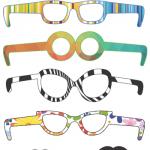 Accessori di Carnevale: occhiali e baffi