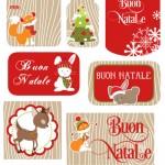 Adesivi o chiudipacco di Natale