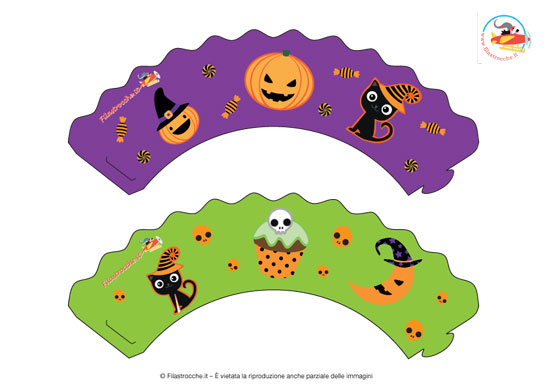 Cupcake Wrappers per Halloween