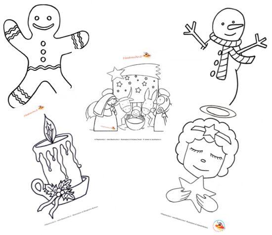 Immagini Del Natale Da Colorare.Disegni Di Natale Da Colorare Per Bambini