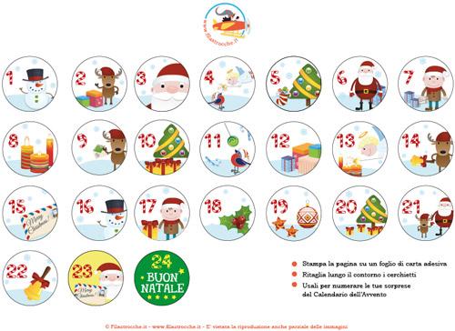 Calendario Dellavvento Da Stampare Per Bambini.Numeri Per Il Calendario Dell Avvento Da Stampare
