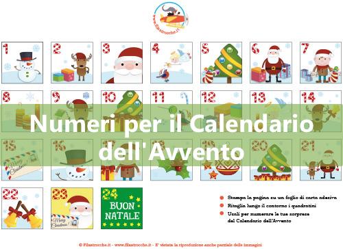 Numeri per il Calendario dell'Avvento