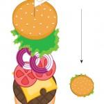 Panini con hamburger da stampare