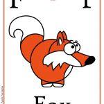 Schede alfabeto inglese da stampare: lettera F
