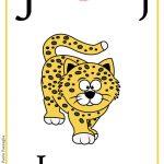 Schede alfabeto inglese da stampare: lettera J
