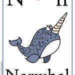 Schede alfabeto inglese da stampare: lettera N