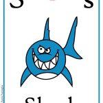 Schede alfabeto inglese da stampare: lettera S