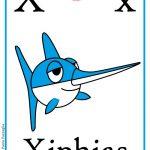 Schede alfabeto inglese da stampare: lettera X