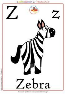 schede alfabeto inglese