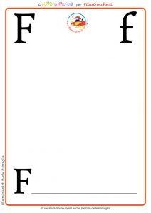 lettera F senza disegno