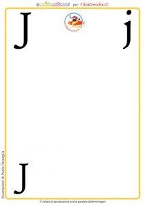 scheda alfabeto lettera J vuota