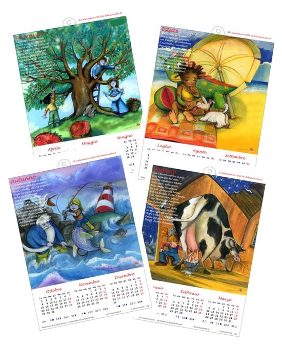Calendario Agosto 2019 Da Stampare Gratis.Calendari 2019 Stagionali Gratis E Fai Da Te Filastrocche It