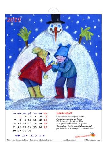 Calendario 2019 illustrato