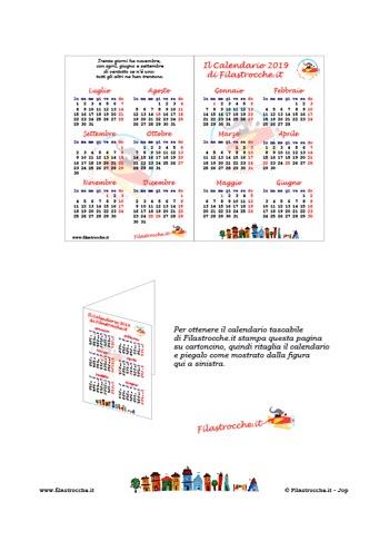 Calendari 2019 Tradizionali Gratuiti Fai Da Te Da Stampare