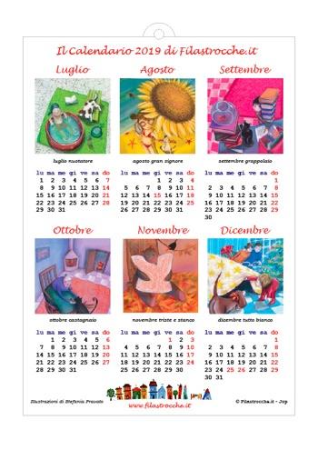 Calendario 2019 semestrale