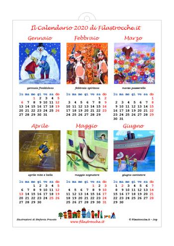 Calendario 2020 semestrale