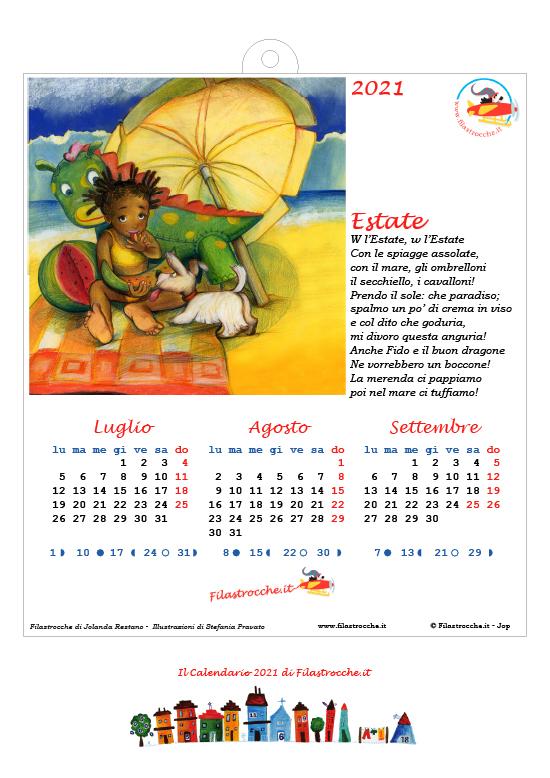 Calendari 2021 stagionali