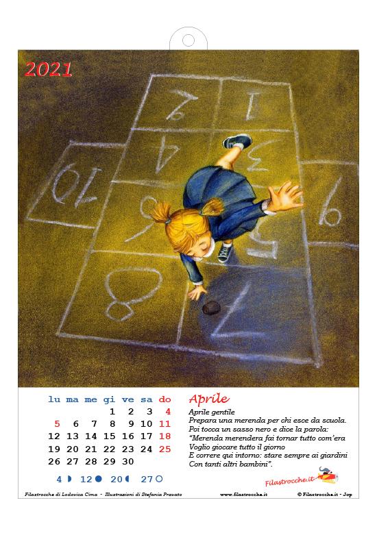 Calendario 2021 illustrato