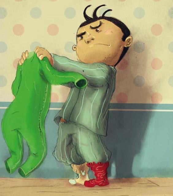 Il pigiama verde