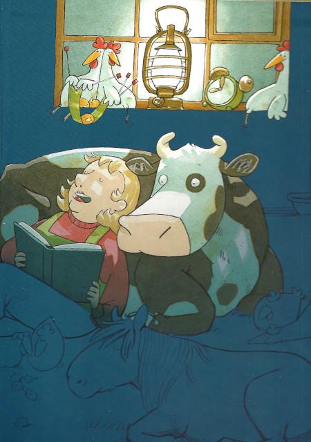 La mucca Carlotta non riesce a dormire