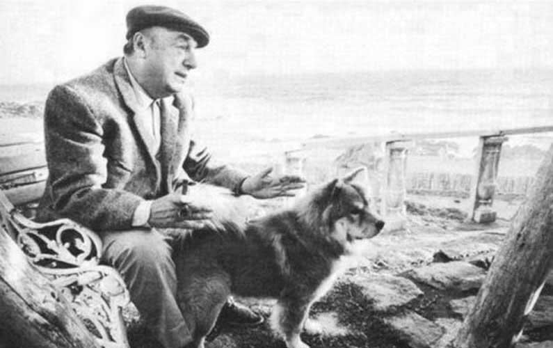 Pablo Neruda e il suo cane